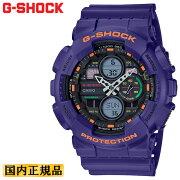 カシオGショックパープルGA-140-6AJFCASIOG-SHOCKデジタル&アナログコンビネーションモデル紫メンズ腕時計