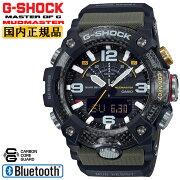 カシオGショックマッドマスターカーボンコアガード構造スマートフォンリンクブラック&カーキGG-B100-1A3JFCASIOG-SHOCKMUDMASTERBluetooth搭載デジタル&アナログコンビネーションメンズ腕時計