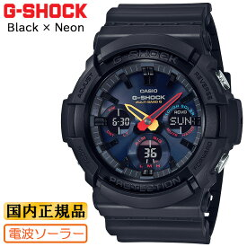 カシオ Gショック 電波 ソーラー ブラック&ネオン ブラック GAW-100BMC-1AJF CASIO G-SHOCK BLACK × Neon デジタル&アナログ コンビネーション ビッグケース 黒 メンズ 腕時計 (GAW100BMC1AJF) 【あす楽】