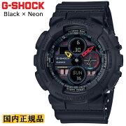 カシオGショックブラック&ネオンGA-140BMC-1AJFCASIOG-SHOCKBlack&Neonデジタル&アナログコンビネーションモデル黒メンズ腕時計
