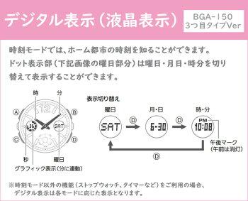 カシオベビーGネイビー&ブラウンネイビーBGA-150PG-2B2JFCASIOBABY-GNavy&Brownデジタル&アナログコンビネーション紺ピンクゴールドレディスレディース腕時計