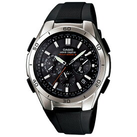 カシオ ソーラー 電波時計 【半額以下の超特価 正規品】 WVQ-M410-1AJF CASIO WaveCeptor ウェーブセプター クロノグラフ ブラック ウレタンベルト メンズ 腕時計 【あす楽】 【02P03Dec16】 【RCP】 【_腕時計】
