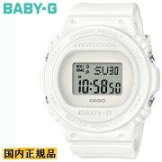 カシオベビーGホワイトBGD-570-7JFCASIOBABY-Gスクエアデジタル白色レディスレディース腕時計