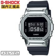 カシオGショックオリジンメタルベゼルシルバー&ブラックGM-5600-1JFCASIOG-SHOCKORIGINデジタル黒銀メンズ腕時計