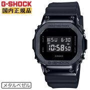 カシオGショックオリジンメタルベゼルオールブラックGM-5600B-1JFCASIOG-SHOCKORIGINデジタル黒銀メンズ腕時計