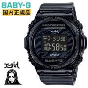 カシオベビーGX-girlコラボレーションモデルブラックスケルトンゼブラパターンBGD-570XG-8JRCASIOBABY-Gデジタル黒レディスレディース腕時計