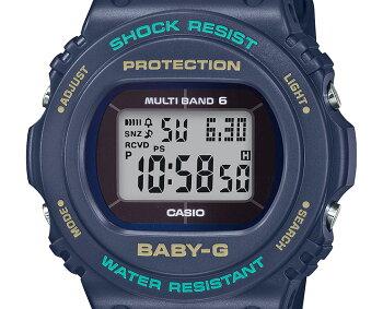 カシオベビーG電波ソーラーネイビーBGD-5700-1JFCASIOBABY-Gデジタル丸型スクエア紺レディスレディース腕時計