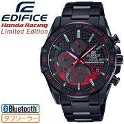 カシオエディフィスホンダレーシングリミテッドエディションブラック&レッドEQB-1000HR-1AJRCASIOEDIFICEHondaRacingLimitedEdition薄型スリムラインモバイルリンク機能Bluetoothメタルバンドメンズ腕時計