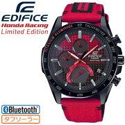 カシオエディフィスホンダレーシングリミテッドエディションブラック&レッドEQB-1000HRS-1AJRCASIOEDIFICEHondaRacingLimitedEditionチタンアルミナイドベゼルケブラーインサートナイロンバンド黒赤メンズ腕時計