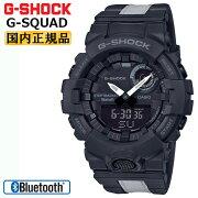 カシオGショックジー・スクワッドスマートフォンリンクブラック&グレーGBA-80LU-1AJFCASIOG-SHOCKG-SQUADBluetooth搭載反社素材付きバンドデジタル&アナログコンビネーション黒灰色メンズ腕時計