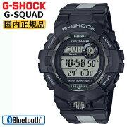 カシオGショックジー・スクワッドスマートフォンリンクブラック&グレーGBD-800LU-1JFCASIOG-SHOCKG-SQUADBluetooth搭載反射素材付きベルトデジタル黒灰色メンズ腕時計