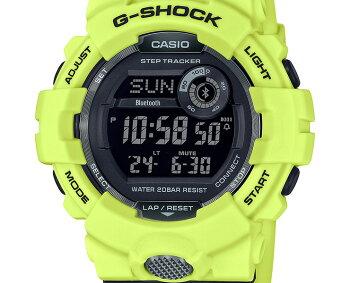 カシオGショックジー・スクワッドスマートフォンリンクイエロー&グレーGBD-800LU-9JFCASIOG-SHOCKG-SQUADBluetooth搭載反射素材付きベルトデジタル黒灰色メンズ腕時計