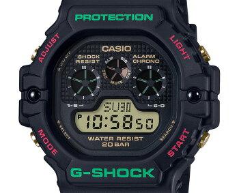 カシオGショックスローバック1990sブラックDW-5900TH-1JFCASIOG-SHOCKThrowbackクリスマスカラーデジタルメンズ腕時計