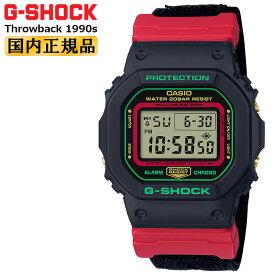 カシオ Gショック オリジン 5600 スローバック 1990s ブラック&レッド DW-5600THC-1JF CASIO G-SHOCK ORIGIN Throwback クリスマスカラー デジタル 赤 黒 緑 レッド グリーン メンズ 腕時計 【あす楽】