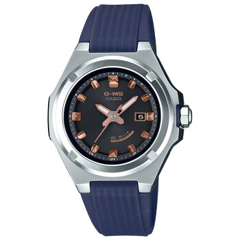カシオベビーGGミズ電波ソーラーシルバー&ネイビーMSG-W300-2AJFCASIOBABY-GG-MSアナログレディスレディース腕時計