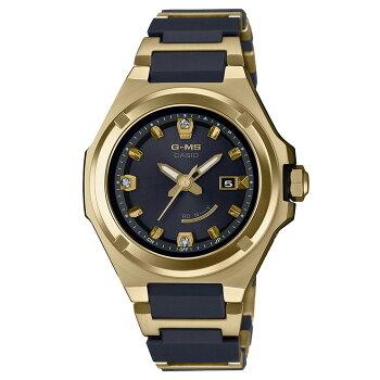 カシオベビーG25周年記念モデルジーミズ電波ソーラーコンポジットバンドゴールド&ブラックMSG-W325CGD-1AJRCASIOBABY-GG-MSダイヤ入り文字板金色黒レディスレディース腕時計