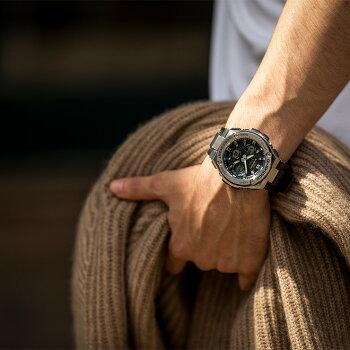 G-SHOCKカシオGショックソーラー電波時計GST-W110-1AJFCASIOG-STEELGスチールブラックデジタルアナログウレタンバンドメンズ腕時計【正規品/送料無料】【02P19Jun15】【RCP】【レビューで3年保証】