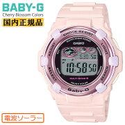 カシオベビーG電波ソーラーチェリーブロッサム・カラーズピンクBGR-3000CB-4JFCASIOBABY-GCherryBlossomColorsデジタルレディスレディース腕時計