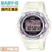 カシオベビーG電波ソーラーチェリーブロッサム・カラーズホワイトBGR-3000CBP-7JFCASIOBABY-GCherryBlossomColorsデジタル白レディスレディース腕時計