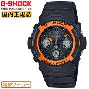 カシオGショック電波ソーラー限定ファイアー・パッケージ2020年モデルブラック&オレンジAWG-M100SF-1H4JRCSAIOG-SHOCKFirePackage'20デジタル&アナログコンビネーション黒メンズ腕時計
