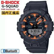カシオGショックジー・スクワッド限定ファイアー・パッケージ2020年モデルブラック&オレンジGBA-800SF-1AJRCASIOG-SHOCKG-SQUADBluetooth搭載スマートフォンリンクデジタル&アナログコンビネーション黒灰色メンズ腕時計