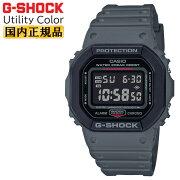 カシオGショックオリジンユーティリティカラーグレー&ブラックDW-5610SU-8JFCASIOG-SHOCKORIGINUtilityColorデジタル反転液晶黒灰色メンズ腕時計