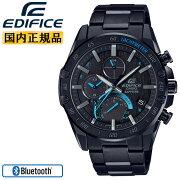 カシオエディフィススーパースリムラインブラックEQB-1000XYDC-1AJFCASIOEDIFICEBluetooth搭載スマートフォンリンクアナログクロノグラフ黒メンズ腕時計