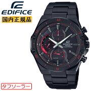 カシオエディフィススリムラインソーラーブラックEFS-S560YDC-1AJFCASIOEDIFICE薄型クロノグラフアナログブラックIP加工黒メンズ腕時計