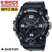 カシオGショックマッドマスターBURTONコラボブラック&ホワイトGG-B100BTN-1AJRCASIOG-SHOCKバートンスノーボードカーボンコアガード構造Bluetooth搭載スマホリンクトリプルセンサー+加速度センサーメンズ腕時計
