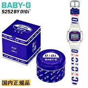 カシオベビーG5252BYOiOiコラボスケルトンBGD-560SC-7JRCASIOBABY-G韓国ストリートファッションブランドデジタルプロテクター装備ホワイト&レッド&ネイビー白黒青レディスレディース腕時計