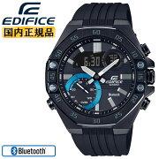 カシオエディフィススマートフォンリンク機能ブラックECB-10YPB-1AJFCASIOEDIFICEBluetooth搭載クロノグラフデジタル&アナログコンビネーション黒メンズ腕時計