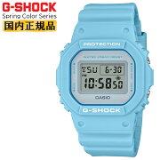 カシオGショックオリジンスプリングカラー・シリーズライトブルーDW-5600SC-2JFCASIOG-SHOCKORIGINSpringColorSeriesスクエアデジタル青ペールトーンメンズ腕時計