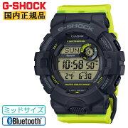 カシオGショックスマートフォンリンクミッドサイズブラック&イエローGMD-B800SC-1BJFCASIOG-SHOCKBluetooth搭載デジタルワークアウト黒茶色メンズ腕時計(GMDB800SC1BJF)