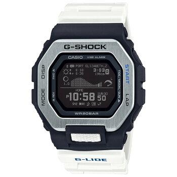 カシオGショックスポーツラインGライドスマートフォンリンクブラック&ホワイトGBX-100-7JFCASIOG-SHOCKG-LIDEMIP液晶デジタルBluetooth搭載タイドグラフムーンデータ日の出/日の入り時刻表示黒白メンズ腕時計(GBX1007JF)
