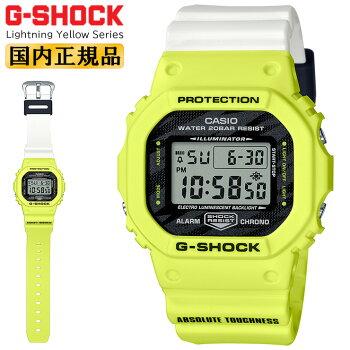 [発売日に出荷できます!]カシオGショックオリジン5600ライトニング・イエローシリーズブラック&イエロー&ホワイトDW-5600TGA-9JFCASIOORIGING-SHOCKLightningYellowSeriesデジタル黒白黄色メンズ腕時計(DW5600TGA9JF)