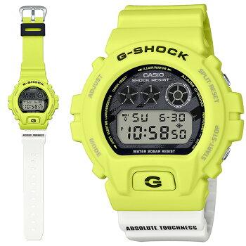 [発売日に出荷できます!]カシオGショックライトニング・イエローシリーズイエロー&ホワイト&ブラックDW-6900TGA-9JFCASIOG-SHOCKLightningYellowSeriesデジタル黄色白黒メンズ腕時計(DW6900TGA9JF)