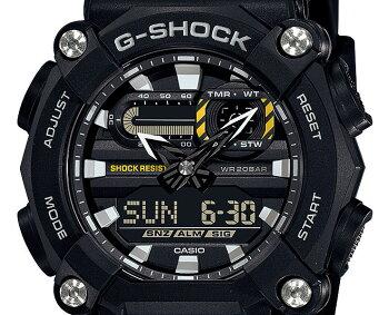 [発売日に発送できます!]カシオGショックブラック&イエローGA-900-1AJFCASOG-SHOCK工業デザインモチーフヘビーデューティーデジタル&アナログコンビネーション黒黄色メンズ腕時計(GA9001AJF)
