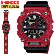 [発売日に発送できます!]カシオGショックレッド&ブラックGA-900-4AJFCASOG-SHOCK工業デザインモチーフヘビーデューティーデジタル&アナログコンビネーション黒赤メンズ腕時計(GA9004AJF)