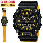 カシオGショックブラック&イエローGA-900A-1A9JFCASOG-SHOCK工業デザインモチーフヘビーデューティーデジタル&アナログコンビネーション黒黄色メンズ腕時計(GA900A1A9JF)
