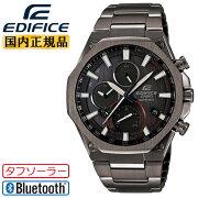 [発売日に出荷できます!]カシオエディフィススーパースリム・ハイスペッククロノグラフソーラーモバイルリンク機能グレーEQB-1100YDC-1AJFCASIOEDIFICEオクタゴンBluetooth搭載スマホリンク薄型8.9mmメンズ腕時計(EQB1100YDC1AJF)
