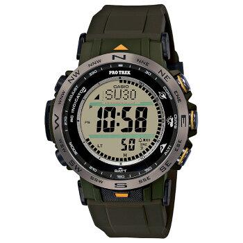 [発売日に発送できます!]カシオプロトレック電波ソーラートリプルセンサーミッドサイズカーキ&グレーPRW-30Y-3JFCASIOPROTREKClimberLineクライマーラインデジタルSTN液晶メンズレディス男女兼用腕時計(PRW30Y3JF)