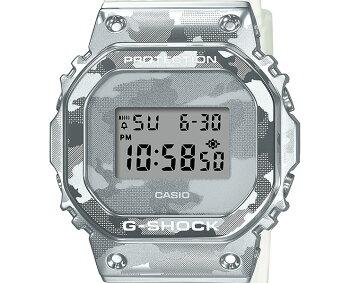 [発売日に発送できます!]カシオGショックオリジン5600メタルカバードスケルトン・カモフラージュシルバーGM-5600SCM-1JFCASIOG-SHOCKORIGINデジタルカモフラ迷彩銀色メンズ腕時計