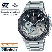 [発売日に出荷できます!]カシオエディフィス限定スクーデリア・アルファ・タウリコラボグラデーション文字板EQB-1100AT-2AJRCASIOEDIFICEScuderiaAlphaTauriLimitedEditionスマートフォンリンクBluetooth搭載メンズ腕時計(EQB1100AT2AJR)