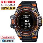 カシオGショックGスクワッド心拍計+GPS機能搭載ブラック&オレンジ&スケルトンGBD-H1000-1A4JRCASIOG-SHOCKG-SQUADBluetooth搭載スマートフォンリンクデジタルMIP液晶メンズ腕時計(GBDH10001JR)