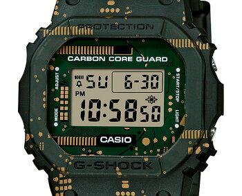 [発売日に発送できます!]カシオGショックオリジン5600カーボンコアガード構造替えバンドセット回路基板モチーフDWE-5600CC-3JRCASIOG-SHOCKORIGINグリーン&グレー&ゴールドデジタル緑灰色金色メンズ腕時計(DWE5600CC3JR)