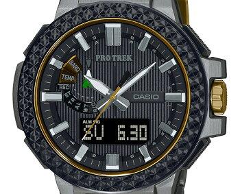 [発売日に出荷できます!]カシオプロトレック25周年記念モデル世界限定200本最高峰マナスル電波ソーラーPRX-8025HT-1JRCASIOPROTREKMANASLUトリプルセンサーチタン素材デジタル&アナログコンビネーションメンズ腕時計(PRX8025HT1JR)