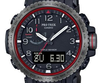 [発売日に出荷できます!]カシオプロトレック電波ソーラートリプルセンサーミッドサイズファイヤー・フォールモチーフPRW-50YT-1JFCASIOPROTREK炎の滝チタンベルトデジタル&アナログコンビネーションメンズ腕時計(PRW50YT1JF)