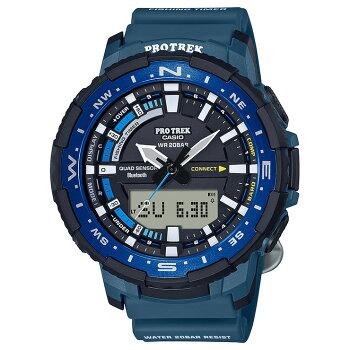 [発売日に出荷できます!]カシオプロトレッククワッドセンサースマートフォンリンクネイビーPRT-B70-2JFCASIOPROTREK釣りフィッシングタイム機能AnglerLineアングラーラインBluetooth搭載デジタル&アナログコンビネーション紺メンズ腕時計(PRTB702JF)