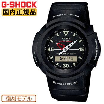 カシオGショック初代アナログモデル復刻ブラックAW-500E-1EJFCASIOG-SHOCKデジタル&アナログコンビネーションラウンド黒メンズ腕時計(AW500E1EJF)