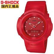 [発売日に出荷できます!]カシオGショック初代アナログモデルリバイバルデザインオールレッドAW-500BB-4EJFCASIOG-SHOCKデジタル&アナログコンビネーションラウンド赤メンズ腕時計(AW500BB1EJF)